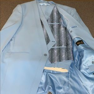 Other - Men Baby blue Full piece suit Very Clean & nice
